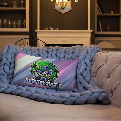 Purple Swirl Premium Pillow (Mascot Logo) - Soft & Linen Texture