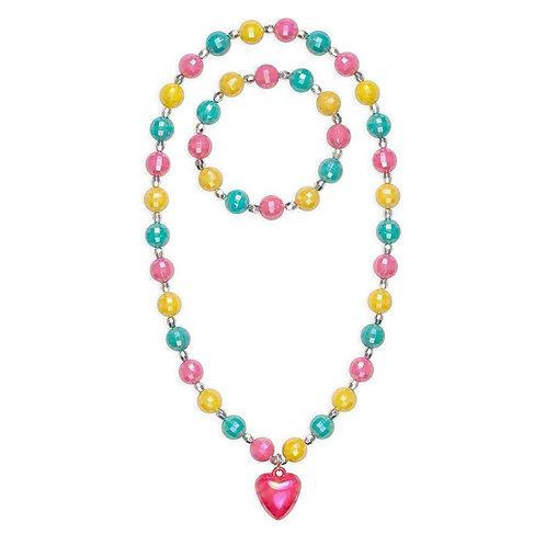 Happy Heart Necklace & Bracelet Set | Great Pretenders