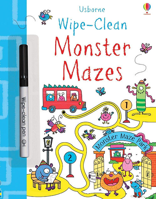 Wipe - Clean Monster Mazes | Usborne