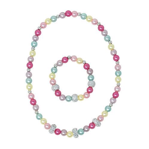 End of the Rainbow Necklace & Bracelet Set | Pink Poppy