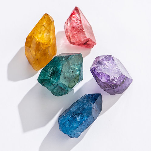 Dyed Quartz Points | Geocentral