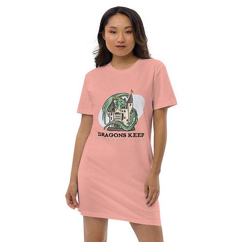 Organic cotton t-shirt dress (Black Text)