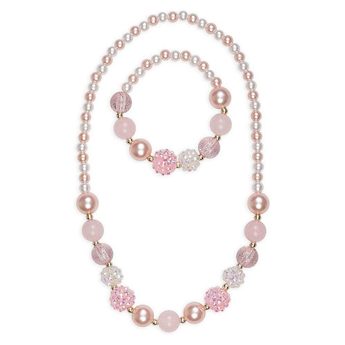 Pinky Pearl Necklace & Bracelet Set | Great Pretenders