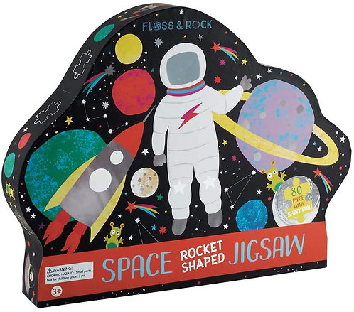 "Space ""Rocket Shaped"" Jigsaw Puzzle"