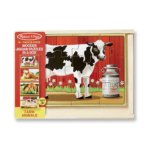 Farm Wooden Puzzle in a Box
