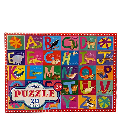 Animal Alphabet 20 Piece Puzzle