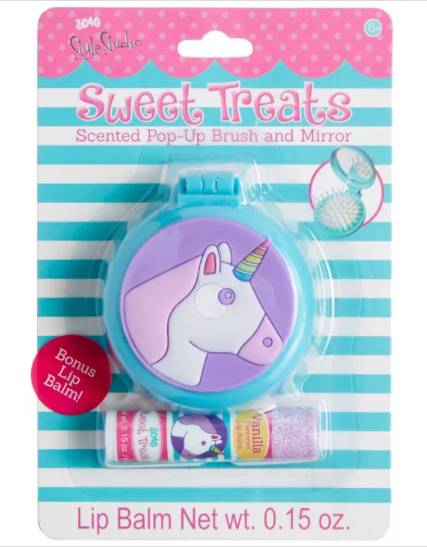 Scented Pop-Up Brush and Mirror w/Lip Balm | 3C4G