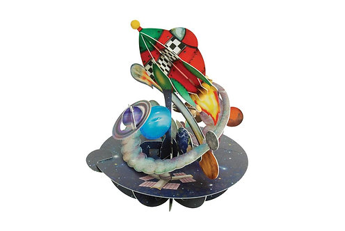 Out in Space 3-D Pirouettes Pop-Up Card | Santoro London