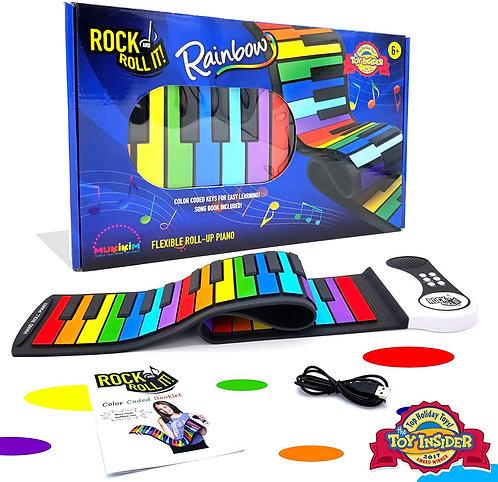 Rainbow Roll-Up Piano