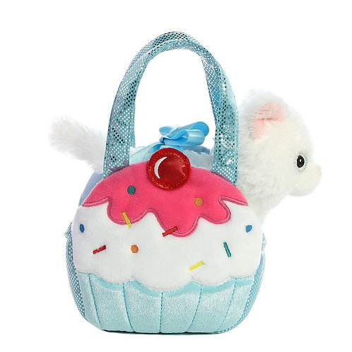 Blue Cupcake Kitty Purse | Aurora