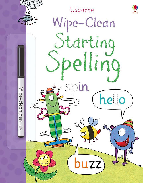 Wipe-Clean Starting Spelling Activity Book | Usborne
