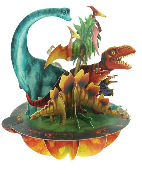 Jurassic Dinosaurs 3-D Pirouettes Pop-Up Card | Santoro London