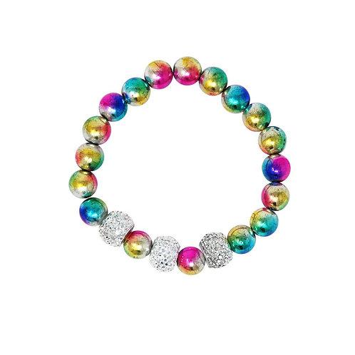 Galaxy Pearl Bracelet | Pink Poppy