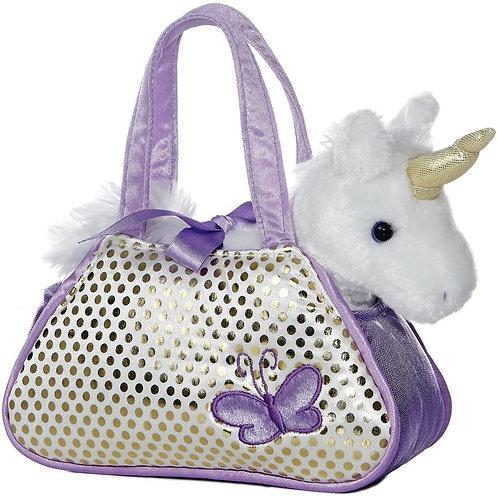 Lavender Butterfly Unicorn Purse   Aurora