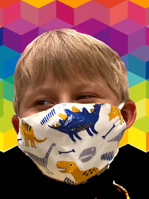 Dino Face Mask - Cotton