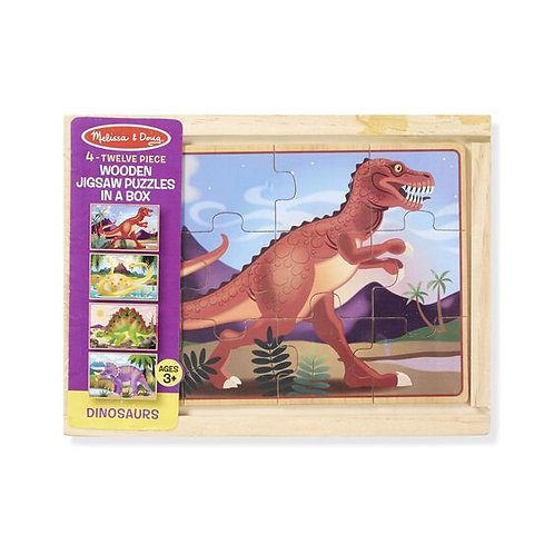 Dino Wooden Puzzles in a Box