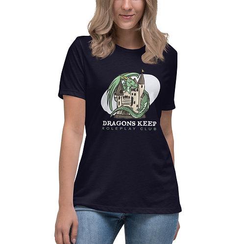 Women's Relaxed T-Shirt (White Logo)