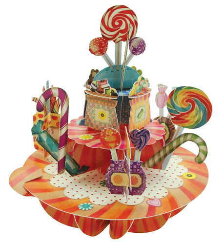 Sweets and Candy 3-D Pirouettes Pop-up Card | Santoro London