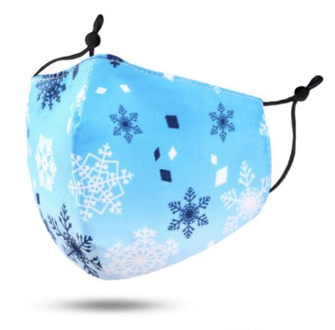 Adult Blue Snowflake Mask