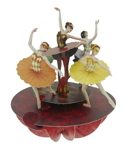 Ballet 3-D Pirouette Pop-up Card | Santoro London