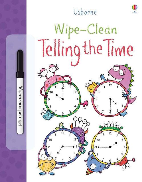 Wipe - Clean Telling Time | Usborne