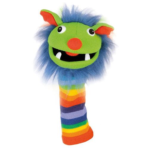 Rainbow Sockette Knit Puppet