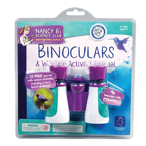 Nancy B's Science Club® Binoculars & Wildlife Activity Journal