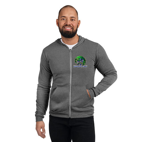 Unisex zip hoodie (Mascot Logo) - Soft & Tailored Fit