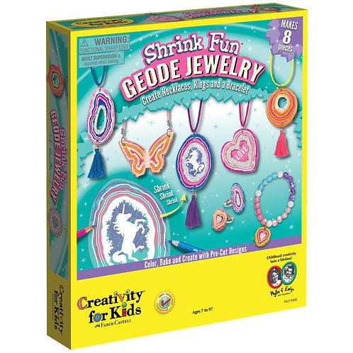 Shrink Fun Geode Jewelry   Creativity for Kids