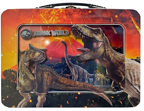 Jurassic World XL Tin Lunch Box w/Window
