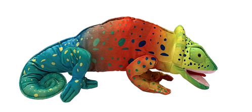 Chameleon Multi-Colored Puppet