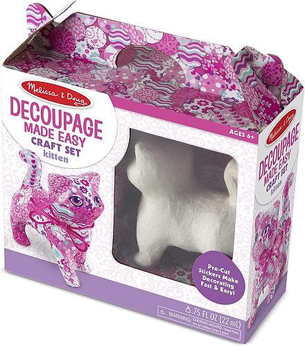 Decoupage Made Easy Kitten Kit