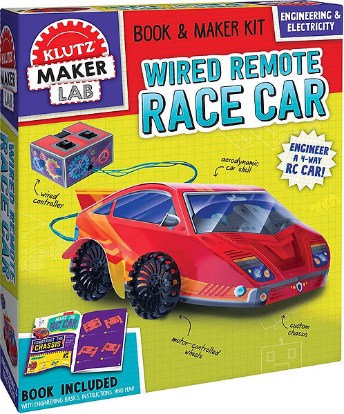 Wired Remote Race Car - Klutz Maker Lab