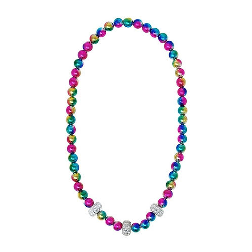 Galaxy Pearl Necklace | Pink Poppy