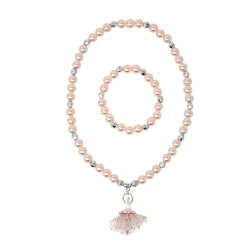 Little Ballerina Necklace & Bracelet Set | Pink Poppy
