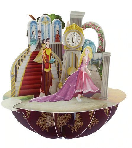 Princesses 3-D Pirouettes Pop-Up Card | Santoro London