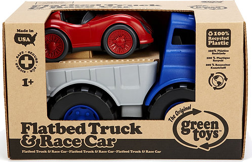 Flatbed Truck & Race Car