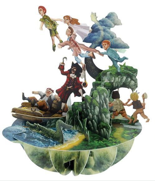 Peter Pan 3-D Pirouettes Pop-Up Card | Santoro London