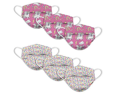 Kid's Disposable Mask 6 pack-Sprinkles Unicorn