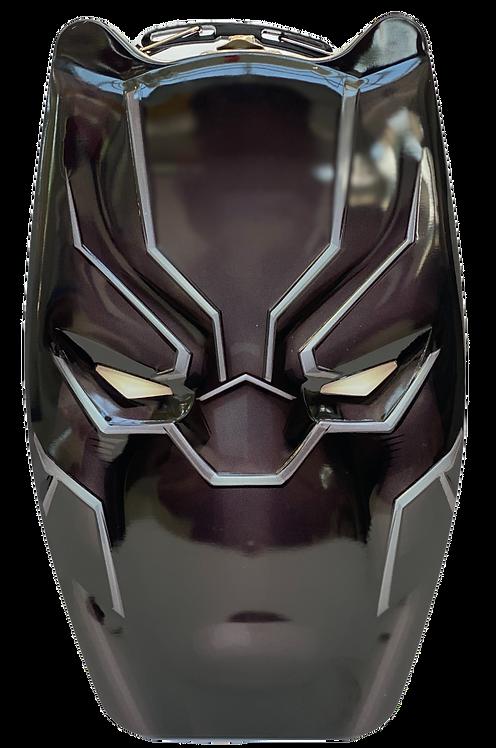 Black Panther Head Shaped Tin Box