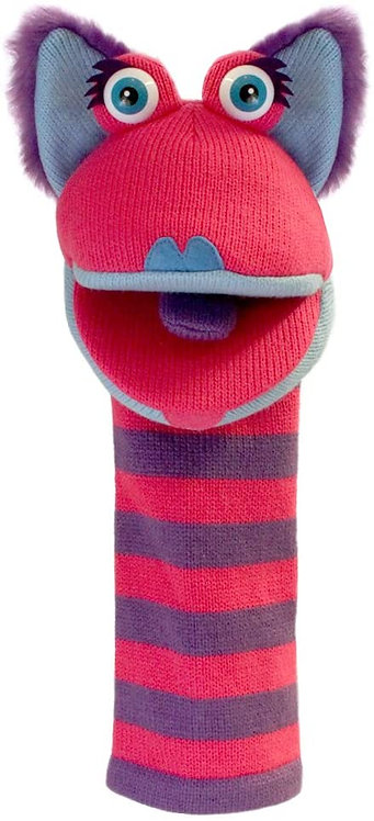 Kitty Sockette Knit Puppet