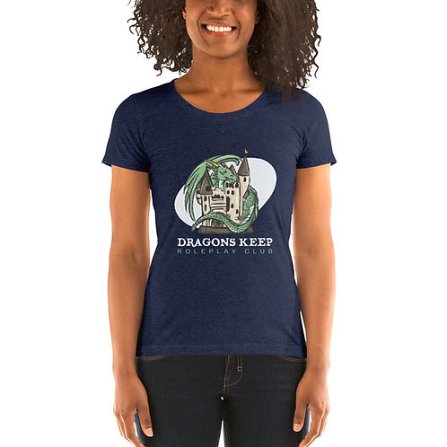 Ladies' short sleeve t-shirt (White Text) - Super Soft & Tailored Fit