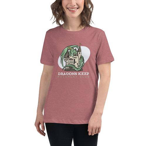 Women's Relaxed T-Shirt (White Text)