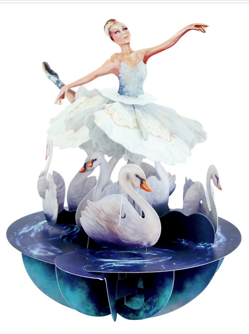 Swan Lake 3-D Pop-up Card | Santoro London