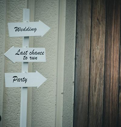 """Wegweiser """"Wedding"""""""