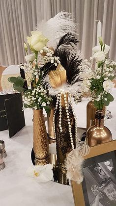 Goldige Flaschen Vasen