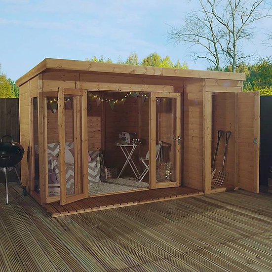 Premium Summerhouse with Side Shed