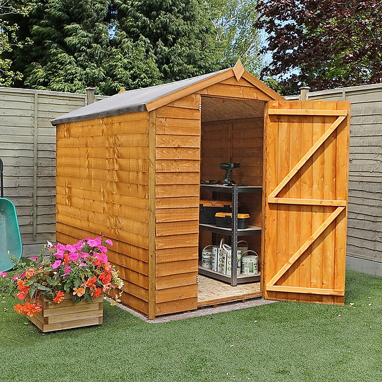 8x6 Apex Overlap Shed - Windowless