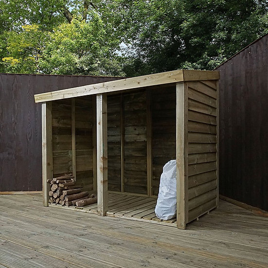 3x6 Pressure Treated Double Log Store