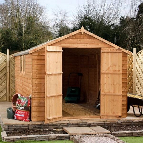 8x8 Apex Overlap Shed